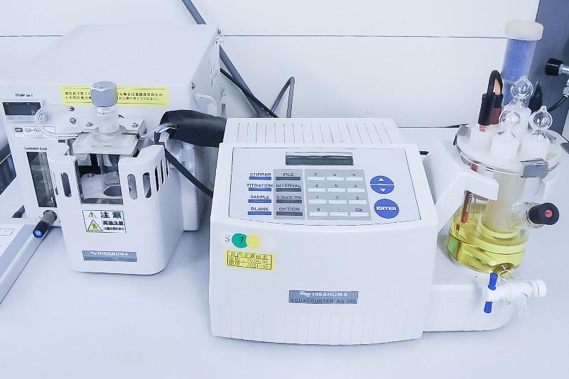 水分測定装置(カールフィッシャー法)